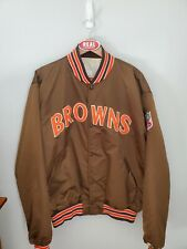 Vintage Cleveland Browns Satin Starter Jacket Men's 2XL XXL Brown