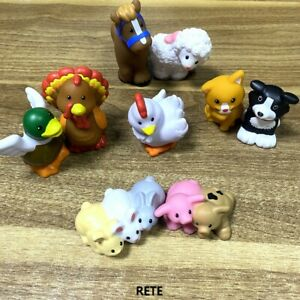 9x Fisher Price Little People Farm Barn Animal Friends baby Pig Bunny Duck Kitty
