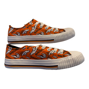 Denver Broncos FOCO Women's Canvas Fashion Shoes Orange White Size 7 New