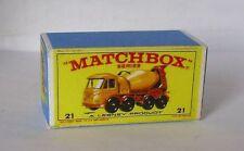 Repro Box Matchbox 1:75 Nr.21 Foden Concrete Truck