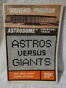 1965 Astros vs. Giants Game Souvenir Program  MARKED scorecard