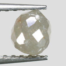 """0.70cts Gray Drilled Briolette Natural Loose Real Diamond """"SEE VIDEO"""""""
