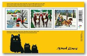 2020 Canada Post HOLIDAY STAMPS - MAUD LEWIS SOUVENIR SHEET - MNH