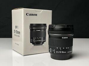 Canon EFS 10-18mm IS STM Lens *LIKE NEW*