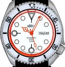 Vintage SEIKO diver MERCEDES hands White MOP dial Mod w/Genuine 6309 case & movt