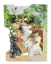 3D Swing Cards by Santoro - TERRIERS PLAYING - SG-SC-175