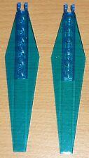 Lego 2 Rotorblätter für Helikopter in transparent blau