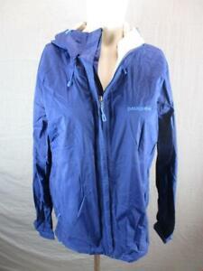 Patagonia Size M Mens Blue Full Zip H2No Waterproof Hooded Rain Jacket T607
