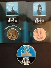 International Fleet Review - RAN 100 Years  Festival Oct 2013 x 3 Medallions