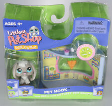 2006 LITTLEST PET SHOP Nook DISPLAY & PLAY SUPER SASSY GRAY BUNNY RABBIT 346 NEW