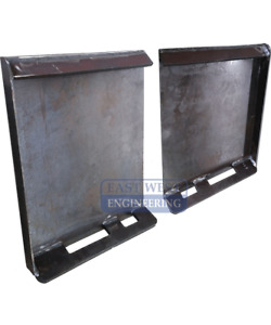 SKID STEER  HITCH PLATES ( weld-on )