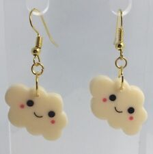 Yellow Cute Happy Cloud Charms Acrylic Earrings F141  Kitsch 4.2cm
