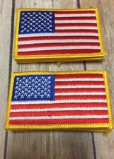 American Flag Patches Lot 11 Red White Blue Stripes Stars 2 Sizes