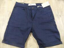 NEW LOOK Men coole slim fit Jeans Shorts dunkelblau Gr. 34/32 NEU