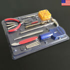 16Pcs Watchmaker Watch Repair Tools Kit Back Case Opener Remover Spring Pin Bar