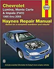 Haynes CHEVROLET MONTE CARLO (95-05) LS LT SS Owners Repair Manual Handbook Book