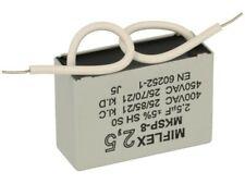 2,5uF 450VAC MIFLEX Condensatore per avviamento motori collegamento a Filo