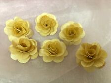 6X Wooden Natural Shabby Rose Flowers Wedding Decor 1.5