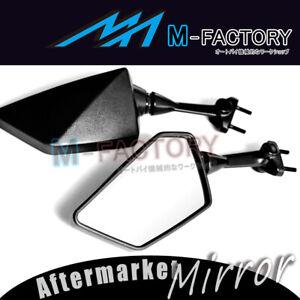 Black E-mark Rear View Side Mirrors Pair For Kawasaki EX250 Ninja 2008-2012 09