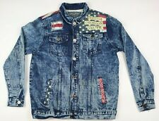 Denim Jacket American USA Rockabilly Western 1738 Men's Size S