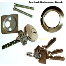 REPLACEMENT DOOR LOCK BARREL OR Key CYLINDER WITH 3 KEYS - Brand NEW.