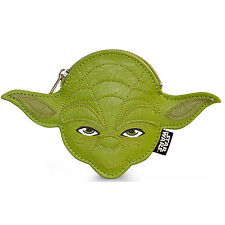 Loungefly Star Wars Yoda Faux Leather Face Coin Bag NEW Jedi Master Purse Wallet