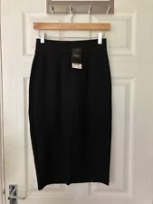 Brand New Next Women's Black Jersey Body-con Midi Skirt Size 6