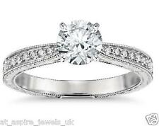 1.61 ct round cut comfort fit solitaire engagement ring 14ct white gold