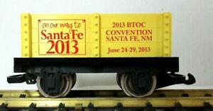 HARTLAND/HLW BTO CLUB SANTA FE 2013 GONDOLA W/ METAL WHEELS   RARE