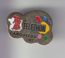 RARE PINS PIN'S .. TV RADIO PRESSE A2 FRANCE 2 FR3 TELETHON 1991 CARQUEFOU 44~DE