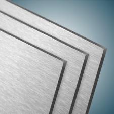 Dibond® Aluverbundplatte Gebürstet Silber Brushed-Series 3mm Stärke strukturiert