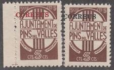 Spain Pins del Valles (Barcelona) 2 unused Civil War Era Locals