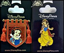 Disney Parks 2 Pin Lot SNOW WHITE Banner Shield tassels + Princess