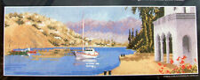 Cross Stitch Kit - MEDITERRANEAN HARBOUR, JOHN CLAYTON PANORAMA, HERITAGE (CXD2)