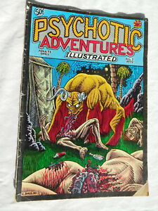 1972 Comic PSYCHOTIC ADVENTURES Adults Only No 1 C DALLAS vintage first