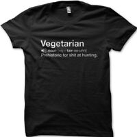 VEGETARIAN shxt at hunting funny fathers day gift t-shirt 9119