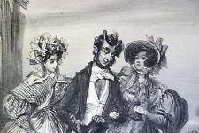 1ere gravure de Gavarni - Diable hors barrière - 1833 - Premier tirage/Charivari