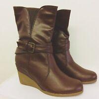 "Timeless dark brown 3"" Platform Wedges, Brand New with box. Size 7 UK, 40 EU."
