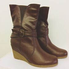 "Timeless dark brown 3"" Platform Wedges, Brand New with box. Size 5 UK, 38 EU."