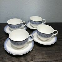 Royal Doulton Classics ROSSETTI H5282 Tea / Coffee Cups & Saucers Set Of 4  2001