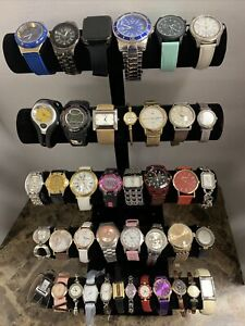 Huge Quartz Watch Lot - Gucci, Nike, Carolee, Timex, Armitron  +More-41 Watches!