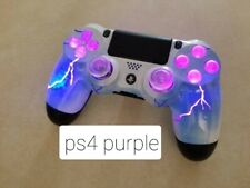 Playstation 4 PS4 Wireless Custom LED controller Purple Fire**