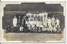 RPPC School Children Class Photograph Real Photo Postcard