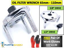 Pierna Mecanico 3 2 vías llave de filtro de aceite combustible herramienta de eliminación de doble 65-110mm nuevo 4-37