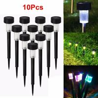 5/10Pcs Solar Lawn Lights Outdoor Pathway Waterproof Yard Garden Landscape Lamp