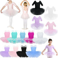 Child Girls Ballet Dance Tutu Dress Leotard Toddler Gymnastics Costume Dancewear