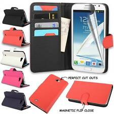 For Samsung Note 2 Case N7100 N7105 Leather Wallet Credit Card Cover
