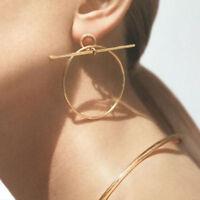Women Geometric Circle Hoop Earrings Big Round Dangle Studs Earrings Jewelry