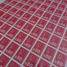 FEUILLE SHEET MARIANNE BÉQUET N°1816d VARIÉTÉ SANS PHOSPHORE x100 1974 COTE 900€