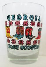"GEORGIA ""BOOT SCOOTIN""  COLORFUL COWBOY BOOTS  SHORT SHOT GLASS"